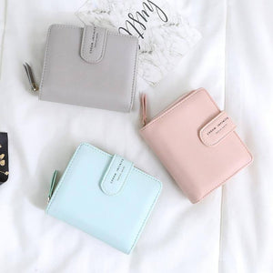 New Women Wallet Many Departments Card Holder Foldable Ladies Small Purse Zipper Hasp Card Case High Quality Female Wallets |  | akolzol