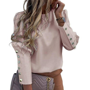 Fashion Women Blouse Shirt  Spring Women Clothing Solid Buttons Long Sleeve Shirts Tops Ladies OL Shirt White Office Shirt