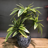35cm3 Fork Artificial Desktop Fake Plants Green Plastic Palm Tree Bunch Flower Material Office Living Room Christmas Home Decor | akolzol