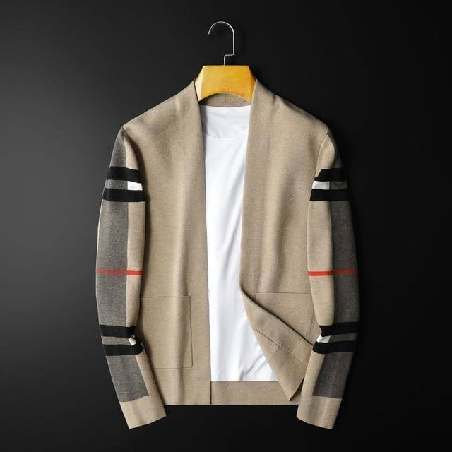 Fall/Winter 2020 men's sweater sweater casual cardigan men's sweater slim fit Joker jacket | akolzol