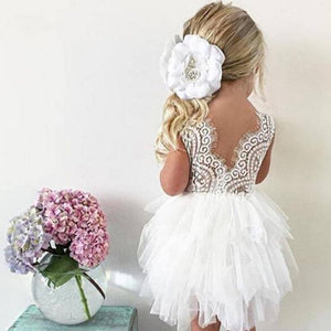 Toddler Girl Baby Clothing Dresses Baby 1 Year Birthday Christening Lace Girls Tulle Dress Kids Infant Party Cake Smash Outfit |  | akolzol
