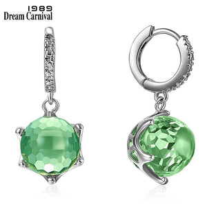 DreamCarnival1989 Hot Selling Special Cut Zircon Drop Earings for Woman Dazzling Light Green CZ Elegant Wedding Jewelry WE3819GR |  | akolzol