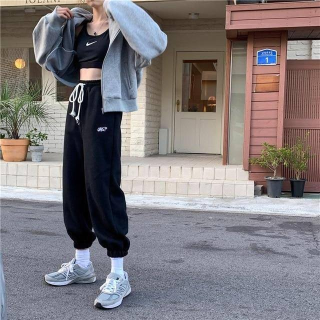 EACHIN Women Sport Drawstring Jogging Pants Winter Warm Loose Sportwear Trousers Female 2020 Fashion Casual Streetwear Trousers | akolzol
