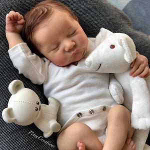 Bebe Reborn Kit 17 Inches Reborn Baby Kit Levi Vinyl Unpainted Unfinished Doll Parts DIY Blank Doll Kit