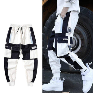 Hip Hop Multi-pocket Cargo Pants Men Patchwork Streetwear Mens Harem Pant Casual Track Joggers Male Harajuku techwear Trousers | akolzol