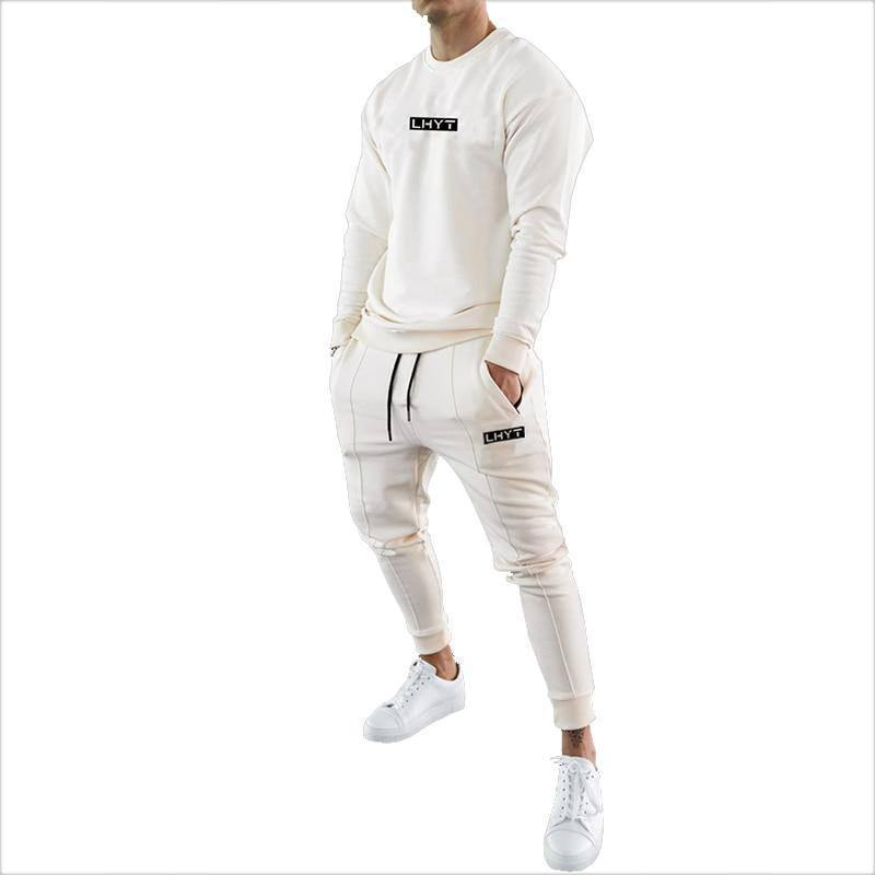 Mens Tracksuits 2020 Cotton Casual Hoodie Set Autumn Male Sweatshirt Clothes For Men 20TZ23 | akolzol