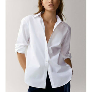 Withered England Style Office Lady Simple Fashion Poplin Solid White Blouse Women Blusas Mujer De Moda 2020 Shirt Women Tops