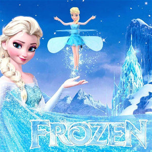Disney Frozen Princess Elsa Magic Fairy Flying Hanging Airplane Control Flying Dolls Toys