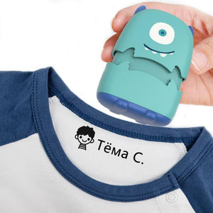 Baby Name Stamp Custom-made DIY Gift for Children Seal Student Clothes Chapter Not Easy to Fade Security Cute Monsters Toy