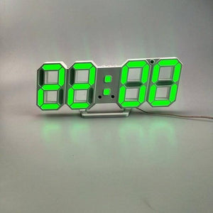 3D LED Wall Clock Modern Design Digital Table Clock Alarm Night Light Saat Wall Clock for Home Decor Living Room | akolzol