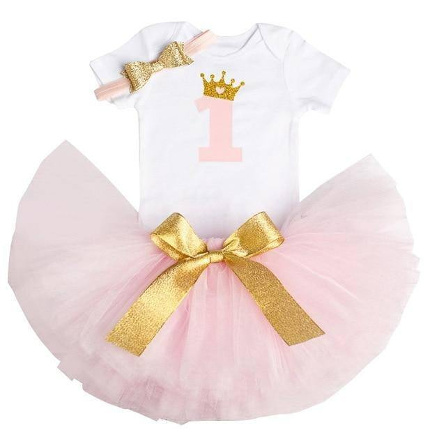 1 Year Girl Baby Birthday Dress Summer Costume Kids Baby Clothes Infant Christening Dresses For Toddler Girls Outfits | akolzol