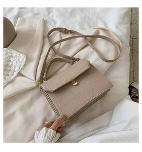 SWDF Stone Patent White Crossbody Bags For Women 2021 Small Handbag Small Bag PU Leather Hand Bag Ladies Designer Evening Bags |  | akolzol