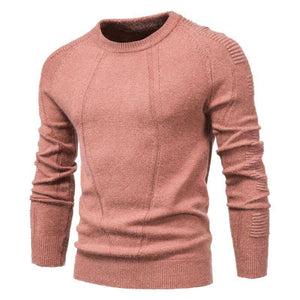 New Autumn Winter Pullover Solid Color Men's Sweater O-neck Geometry Sweater Men Casual Fashion Pull Slim Sweaters Mens