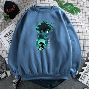 My Hero Academia Anime Prints Hoodies Men Simplicity Fashion Streetwear Crewneck Pullover Casual Wear Loose Warm Men's Clothes | akolzol