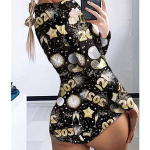 Sexy Women Bodysuit Long Sleeve Deep V Neck Bodycon Stretch Leotard Crop Top Button Short Romper Pajamas Women Jumpsuit Overalls |  | akolzol