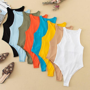 2021 New Summer Autumn Jumper Body suit Women Casual Sexy Slim Beach  Jumpsuit Romper Girl Bodysuit Solid Brand Suit |  | akolzol