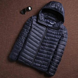 2021 Winter Fashion Brand Ultra Light Duck Down Jacket Mens Korean Streetwear Feather Coats Stand Collar Warm Men Clothes | akolzol