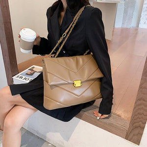 High Capacity PU Leather Women Shoulder Crossbody Bags 2021 New Chain Vintage Handbags Ladies Casual Totes Female Purses |  | akolzol