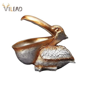 VILEAD 22cm Resin Pelican Statue Key Candy Container for Home Decoration Accessories Storage Table Desk Decor Living Room | akolzol