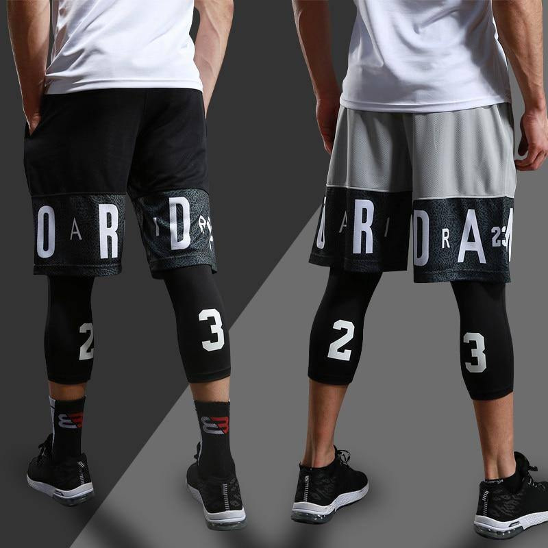 Men Running Compression Sportswear Set Basketball Jersey Match Suit For Youngster Workout Elastic Tracksuit | akolzol