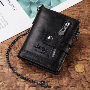 2020 Men Wallets Broen Fashion Genuine Leather Top Quality Card Holder Classic Male Purse Zipper Brand Wallet For Men | akolzol