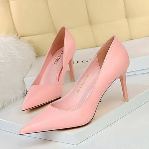 BIGTREE Shoes Women Pumps Fashion High Heels Shoes Black Pink White Shoes Women Wedding Shoes Ladies Stiletto Women Heels 2021 | akolzol