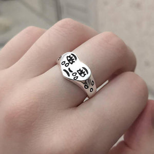 Creative Cry Face Rings for Women New Trendy Fashion Female Resizable Ring Jewelry Ladies Bar Night Club Jewelry Gifts