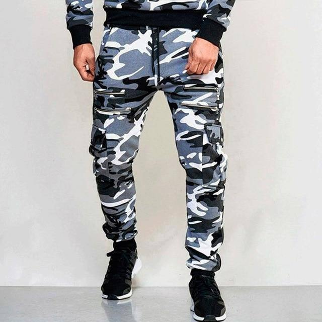 Fashion Men' s Trousers Camouflage Print High Waist Sports Pants Leggings Sports Fitness Running Casual Pants | akolzol