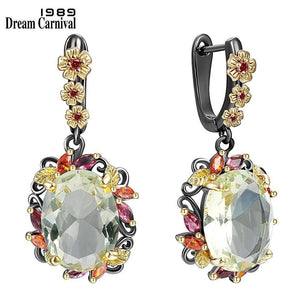 DreamCarnival1989 Fabulous Statement Earrings for Women Stunning Olivine Zircon Party Must Have Hot Sell Flower Jewelry WE4036GR |  | akolzol