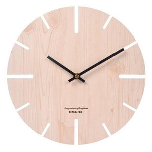 Wooden 3D Wall Clock Modern Design Nordic Brief Living Room Decoration Kitchen Clock Art Hollow Wall Watch Home Decor 12 inch | akolzol