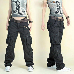 Free Shipping 2021 New Arrival Fashion Hip Hop Loose Pants Jeans Baggy Cargo Pants For Women | akolzol