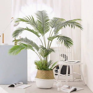 60-123CM Artificial  Palm  Tree Fake Plants Plastic Leaf Fake Tree For Home Wedding  Garden  Floor  Living Room  Decorations | akolzol