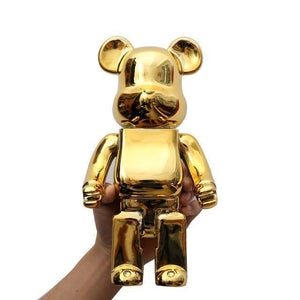 28Cm Bearbrick 400% Be@rbrick Gloomy New Year's Gift Home Decoration Tide Play Model Plating Resin Electronic Games Kids Toys |  | akolzol