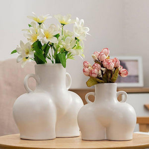 Creative Nordic Ceramic Simulation Body Art Dried Flower Plant Arrangement Vase Decoration Home Decorat Ornaments |  | akolzol