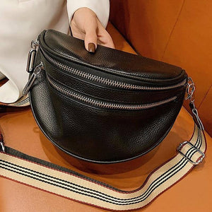 Luxury Genuine Leather Handbags New Designer Fashion Cowhide One Shoulder Handbag Diagonal Multi-Purpose Chest Bag | akolzol