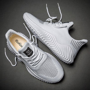 Mesh Men Shoes Breathable White Mens Sneakers Trendy Lace-Up Lightweight Black Walking Big Size Man Tenis Shoe Zapatillas Hombre