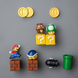 3D Mario Fridge Magnets for Kids Resin Cute & Fun Decorative Refrigerator Locker Magnets Kitchen Home Decoration |  | akolzol