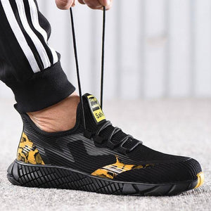 Male Indestructible Work Shoes Sneakers Men Boots Anti-puncture Safety Shoes Men Anti-smash Work Boots Steel Toe Shoes Footwear | akolzol