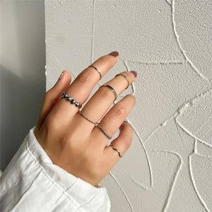 Minimalism Gold Color Round Geometric Finger Rings Set for Women 2021 Classic Circle Open Ring Joint Ring Female Jewelry