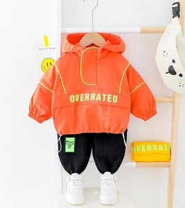 2021 Hot Kid Boy Girl Clothing Set New Casual Tracksuit Long Sleeve Letter Zipper Oufit Infant Clothes Baby Pants 1 2 3 4 Years | man fashion | akolzol
