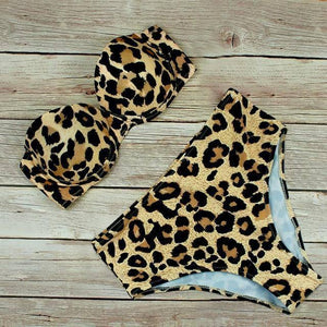 Sexy High Waist Bikini Swimwear Women Swimsuit 2021 Leopard Brazilian Bikini Set Push Up Bathing Suit Female Summer Beachwear L