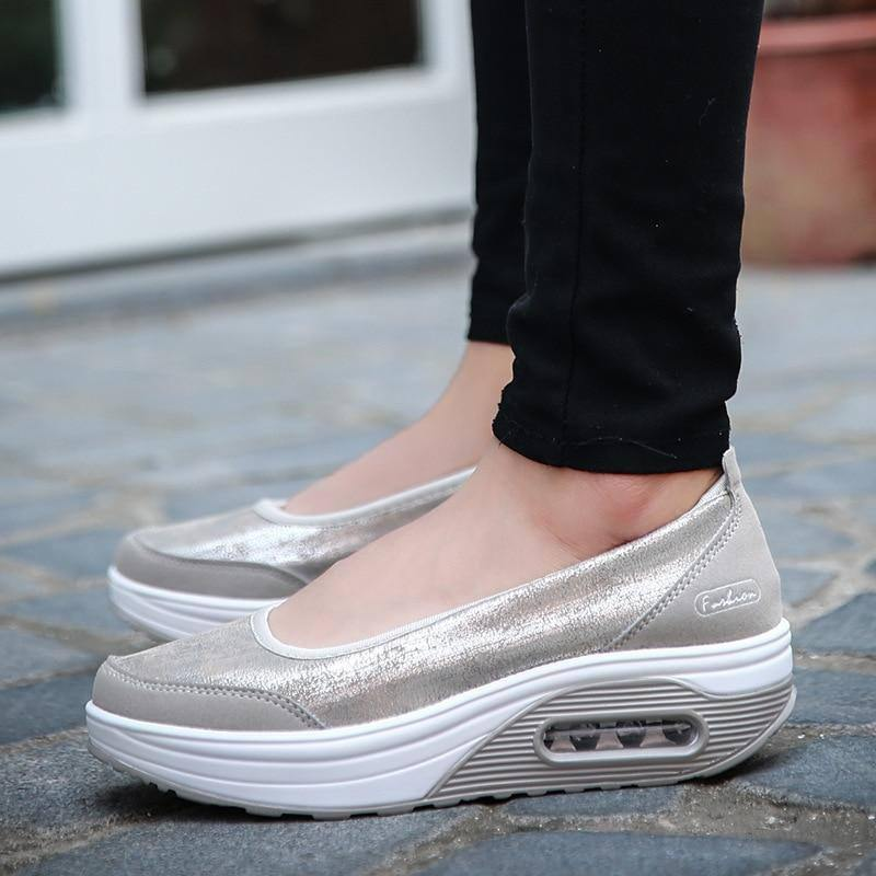 2021 Women Sneakers Flats Loafers Sweet Shallow Comfort Moccasins Slip-on Platform Ballet Ladies Vulcanized Shoes Ladies New | akolzol