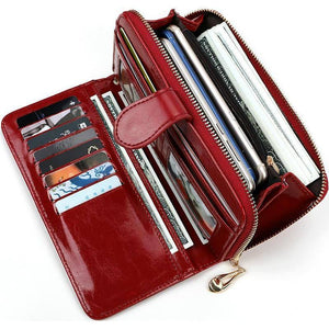 Pu Leather Women Wallets Women Purses Fashion Long Zipper Women's Wallet Money Coin Holder Female Long Purse Female Purse Zipper | akolzol