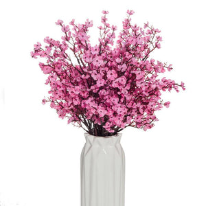 Gypsophila Artificial Flowers Branch High Quality Cherry Fake Plants Bouquet Living Room Vase for Home Wedding Decoration Autumn |  | akolzol