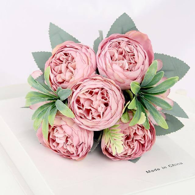 30cm Rose Silk Peony Artificial Flower Pink DIY Home Living Room Garden Wedding Decoration Fake Flowers for Vase Cheap Bouquet |  | akolzol
