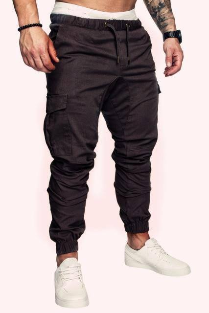 MRMT 2021 Brand New Men's Trousers Men Casual Trousers Elastic Tether Pants Solid Color Man Trouser for Male Clothing Pant