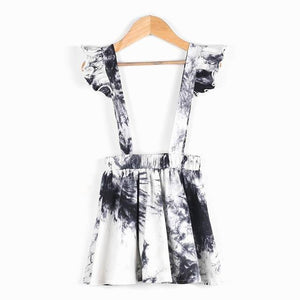 Qunq Girls Suspender Dress Fashion Tie-dyed 2021 New Spring Summer Kids Dresses for 2 3 4 5 6 Year Toddler Children Clothing | akolzol