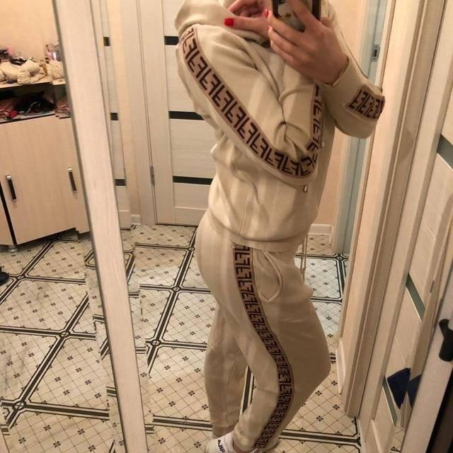 Women's Sets Autumn Hooded Sweatshirt and Pants Set Pullover Two Piece Outfits for Women's Tracksuit Sp133 | akolzol