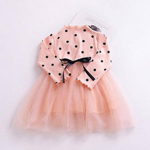 Winter Kids Dresses For Girls Long Sleeve Children Clothing Polka Dot Tulle Tutu Girls Casual School Wear Princess Party Dress |  | akolzol