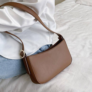 Cute Solid Color Small PU Leather Shoulder Bags For Women 2021 Summer Simple Handbags and Purses Female Travel Totes |  | akolzol